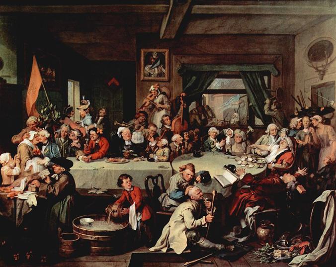 An Election Entertainment Hogarth 1754