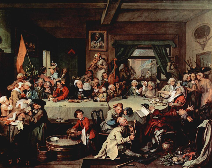 An Election Entertainment Hogarth 1754