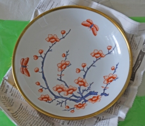 """Another dish made for Lord & Taylor, this time in the """"Imari"""" palette. Interestingly, we found 3 of these Lord & Taylor dishes at 3 different stores – clearly, we were meant to have them."""