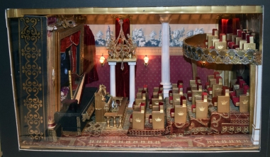 Movie theater in Kemore's dollhouse exhibit.