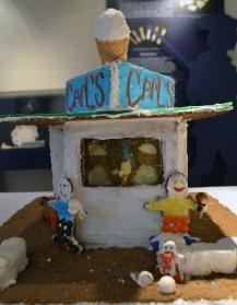 Carl's Frozen Custard in gingerbread.