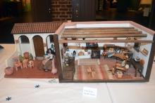 Hacienda in Kenmore's dollhouse exhibit.