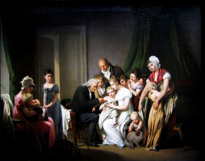 Inoculation against smallpox in Paris (1807) by Louis Léopold Boilly