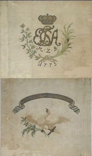 Ansbach Bayreuth Regimental Flag