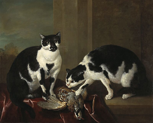 Two Cats by Jean-Baptiste Oudry