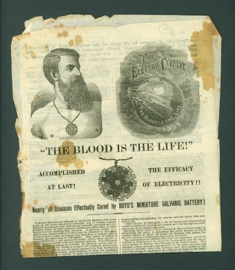 Boyd's Battery advertising circular from 1879.
