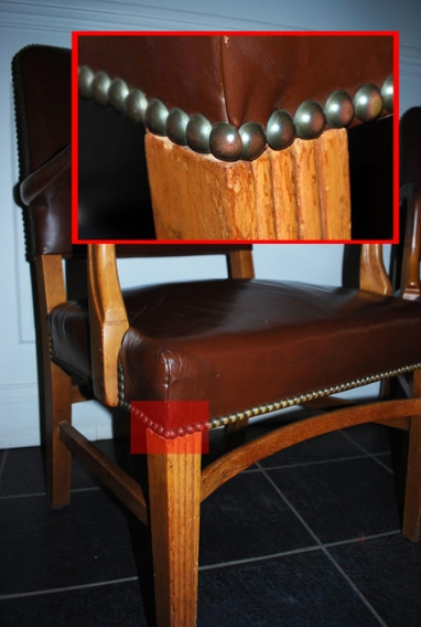 Leather Chair with Example Tacks
