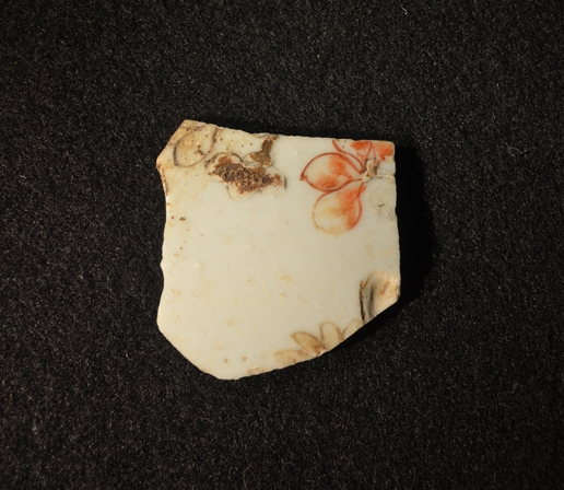 Famille rose artifact excavated at Ferry Farm.