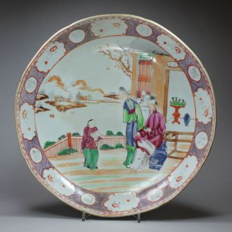 Famille rose plate. Credit: Guest & Grey Antiques