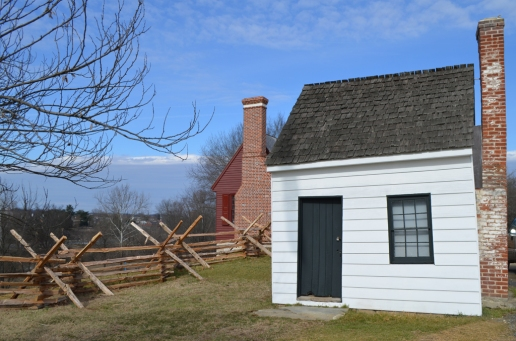 "The 1870s-era ""Surveyor's Shed"" next the the Washington house replica."