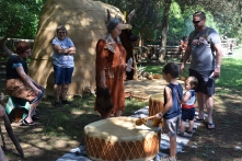Drumming with the Patawomeck.