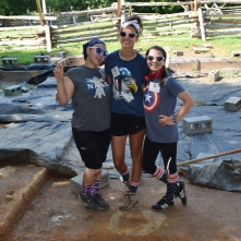 A festive Aileen, Cheyenne, and Reagan celebrating the 4th of July at Ferry Farm!