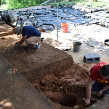 Field school students excavate the North Yard.
