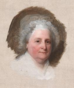 Incomplete Portrait of Martha Washington (1796) by Gilbert Stuart