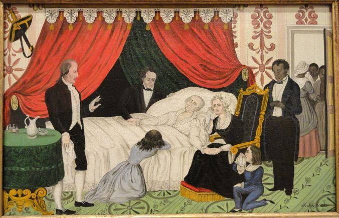 George Washington on His Deathbed by John Meister