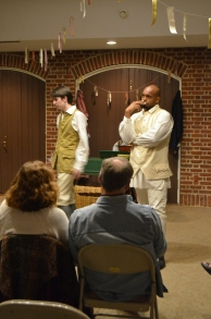 (l-r) Christian Humphrey as The Lying Valet Timothy Sharp and Roody Labaze as Sir Gayless