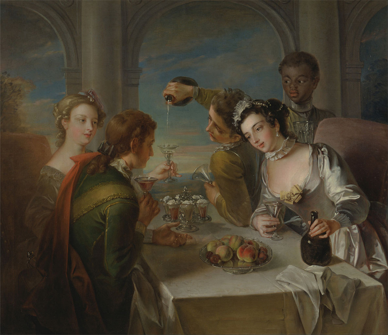 The Sense of Taste (1744) by Philippe Mercier