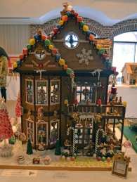 """Santa's Gingerbread House"" by Vicky Bickel"