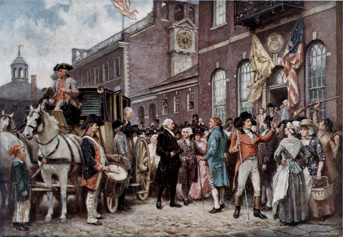 Washington's inauguration at philadelphia