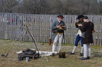 Virginia Militia reenactors.