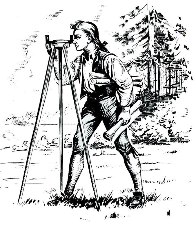 Young George Washington, Surveyor