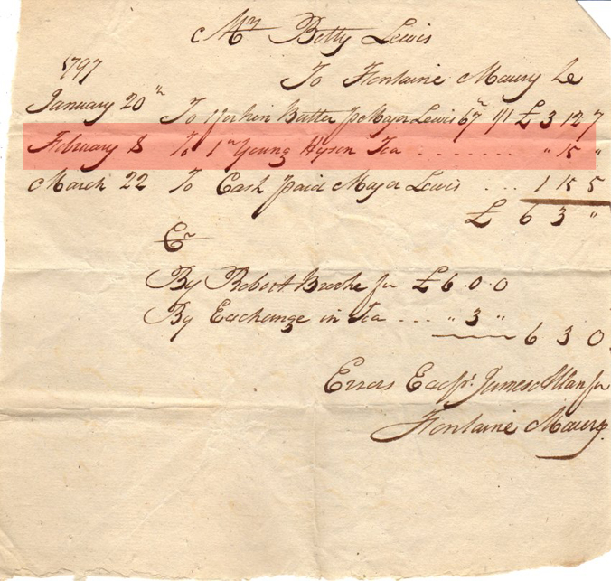 Betty Lewis receipt for tea copy