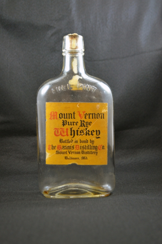 Mount Vernon Whiskey - Front