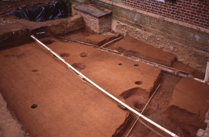 Excavated kitchen yard 2
