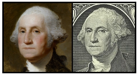 Athenaeum Portrait vs One-Dollar Bill