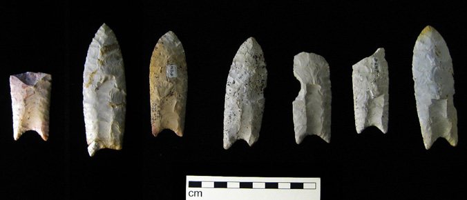 Clovis points from Iowa's Rummells-Maske Site