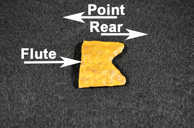 Ferry Farm's Clovis point diagram