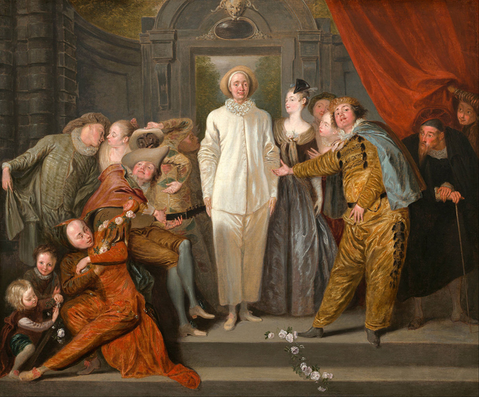 The Italian Comedians by Antoine Watteau