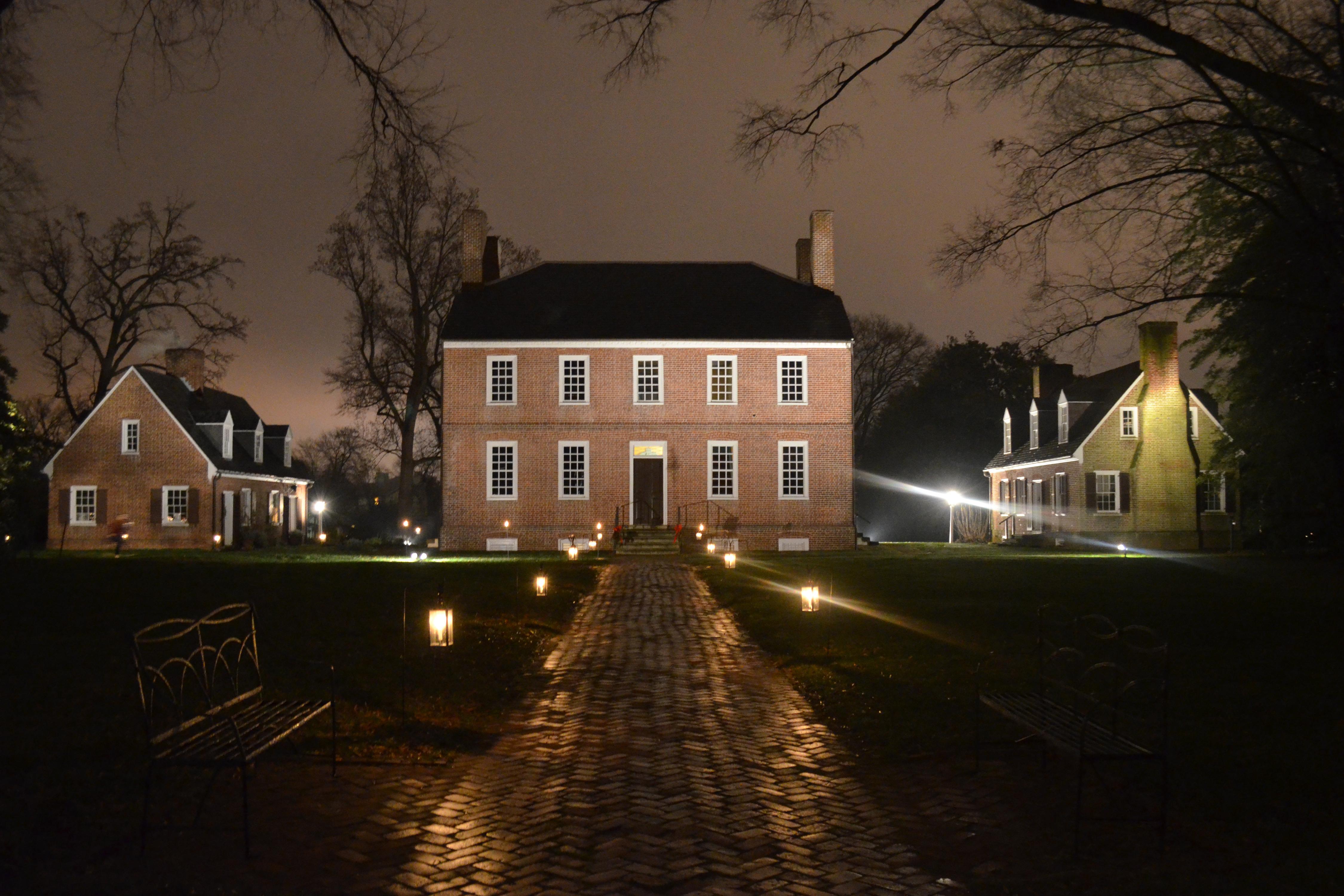 Historic Kenmore at night.