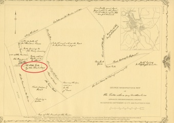 "George Washington's Map of ""The Fields Where My Mother Lives"" As Surveyed September 13, 1771 and Platted in 1932"