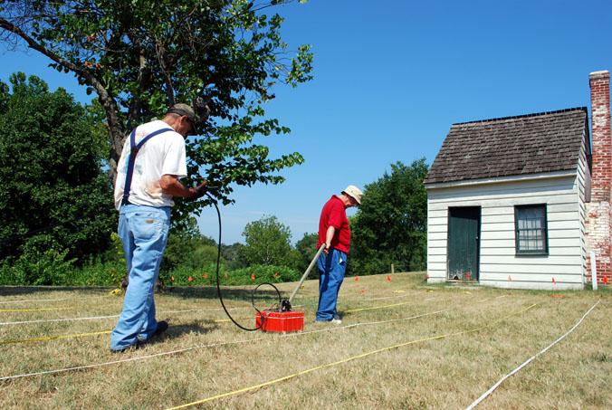 Ground-penetrating radar survey of George Washington's Ferry Farm by Bill Hannah and John Imlay.