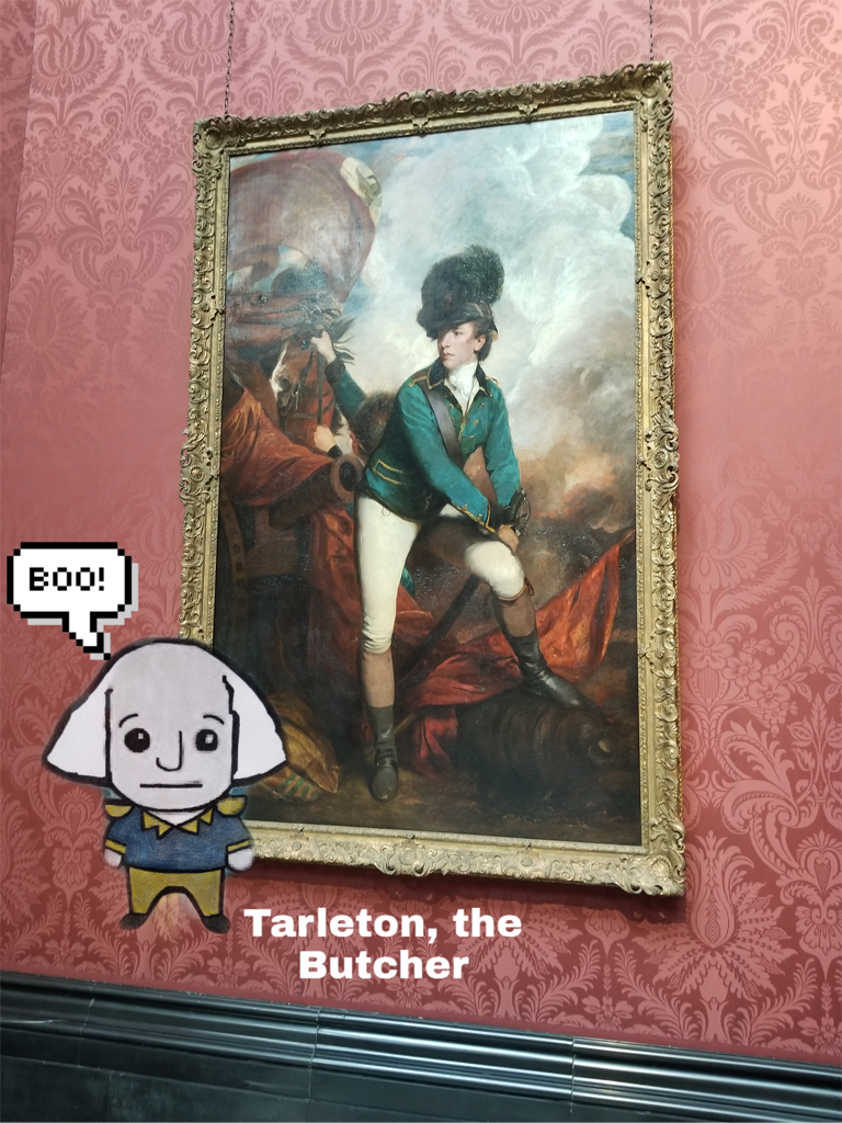 GW with Tarleton Painting
