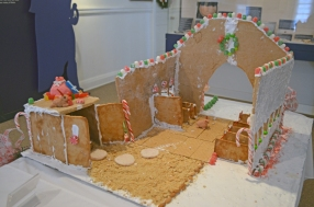 """Santa's Stable"" by Moriah Webster's 7th & 8th grade students, Walker Grant Middle School"