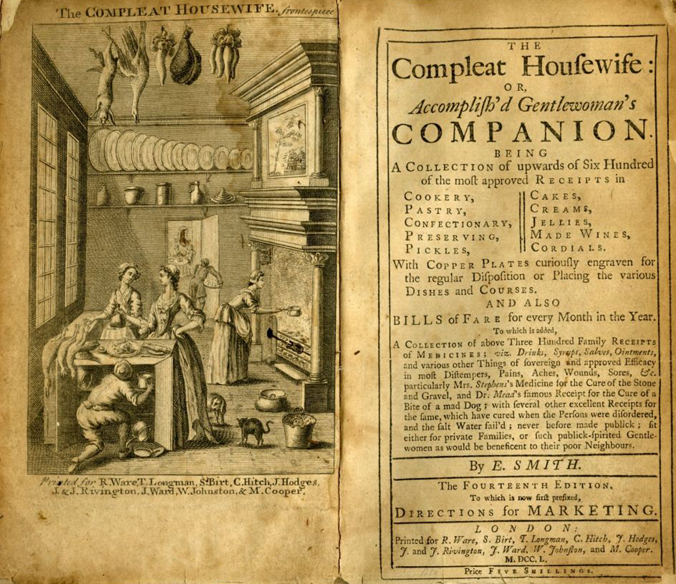 Eliza Smith's 'The Compleat Housewife' frontispiece
