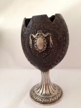 Goblet carved from a coconut