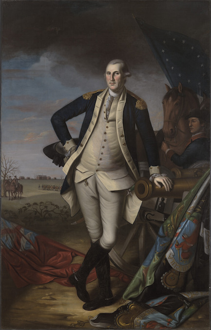 George Washington at the Battle of Princeton (1779) by Charles Willson Peale