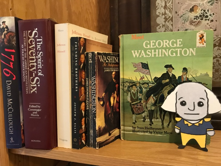 Little George reads up on himself