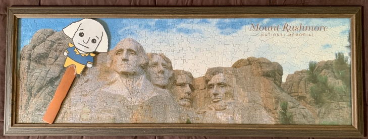 Little George visits Mount Rushmore