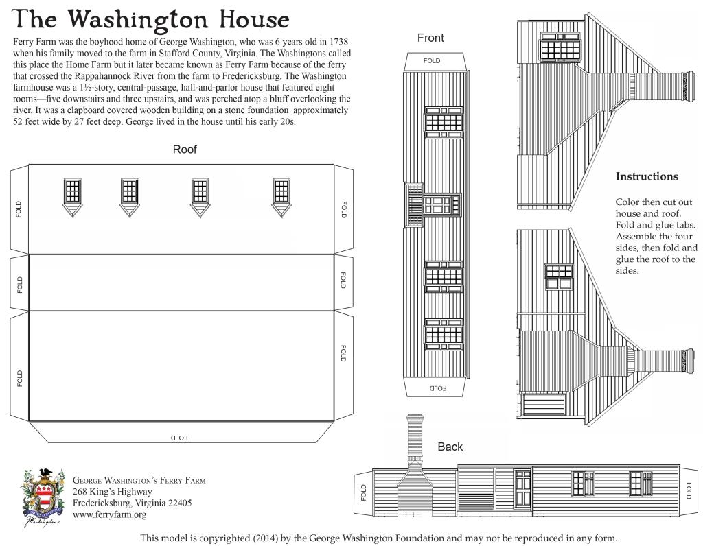 Washington House Card Model