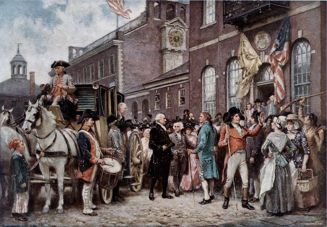 Washington's Inauguration at Philadelphia by Ferris